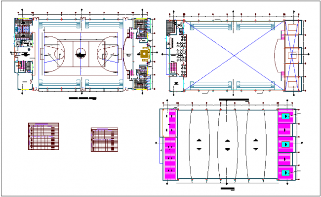 Floor plan with cover plan,door and window detail for multi purpose use room dwg file
