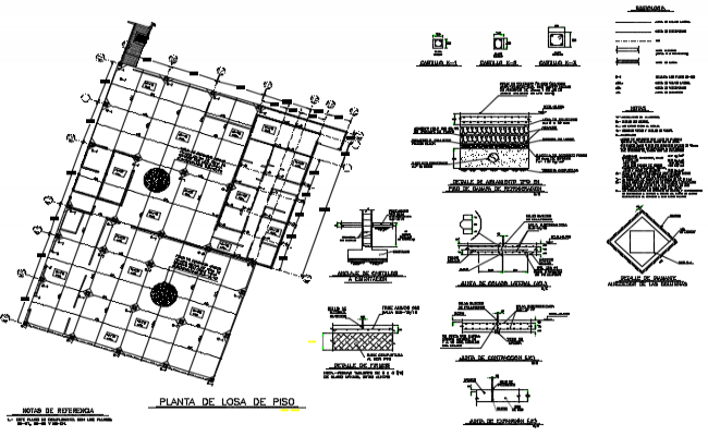 Floor slab plan detail dwg file