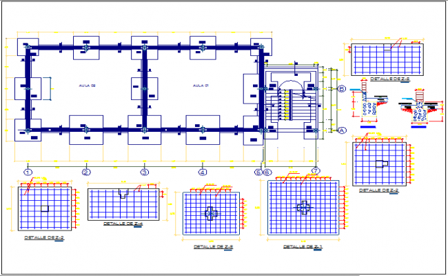 Floor slab structure detail view dwg file