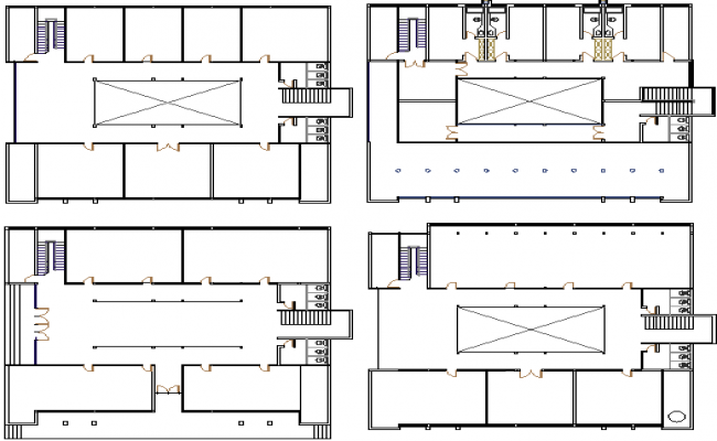Floor vise sanitary installation details of shopping mall dwg file