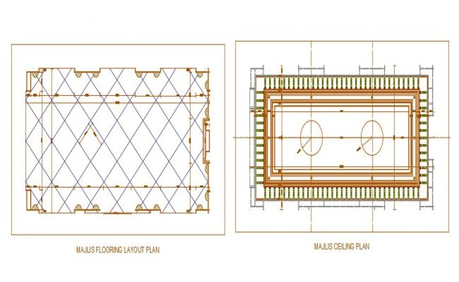 Flooring and Ceiling Layout Plan Download CAD Drawing
