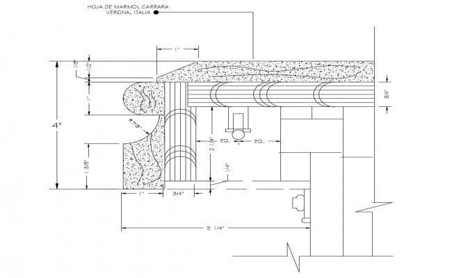 Flooring detail of marble in dwg file
