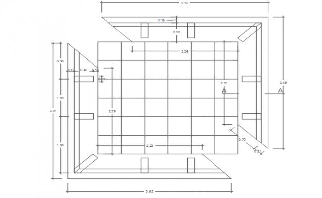 Flooring plan detail dwg file