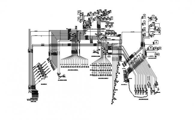 Flow Sheet Diagram In DWG File