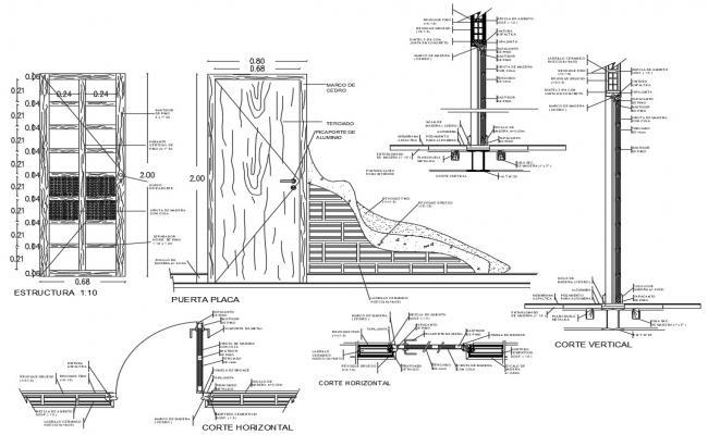 Flush Door CAD Drawing