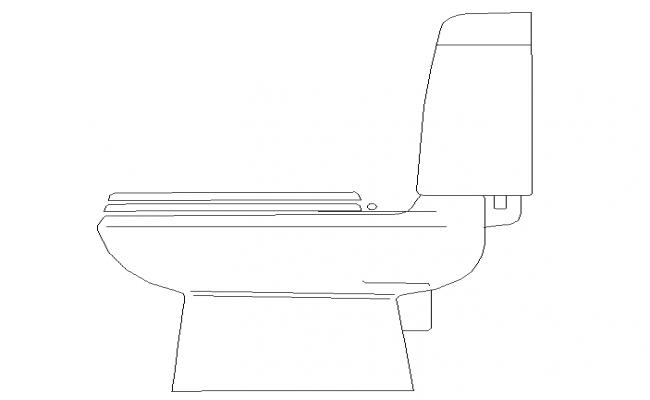 Flush toilet Block DWG file