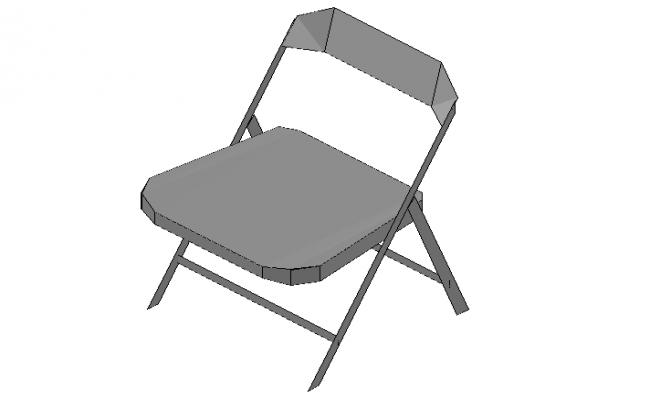 Folding Chair modern concept 3d