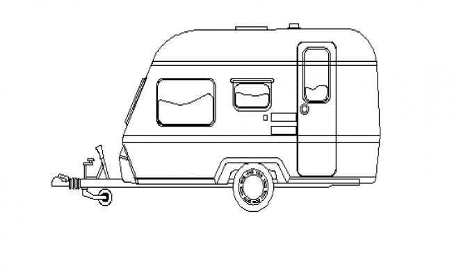 Food truck front view details