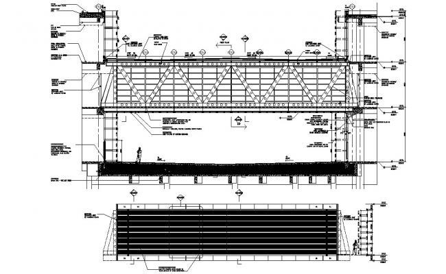 Foot Bridge Project CAD Drawing