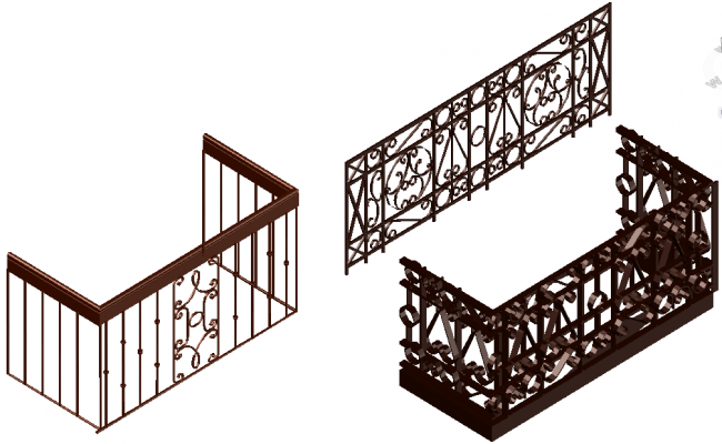 Forged design view for window in  3d