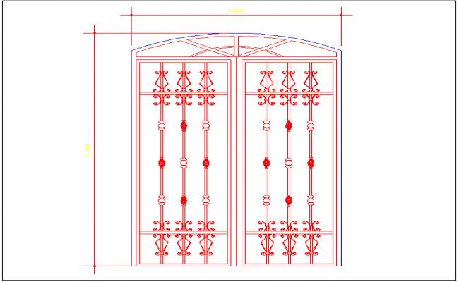 Forged door design view