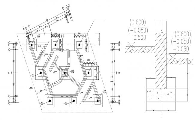Foundation And Column Plan DWG File