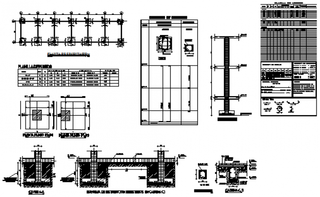 Foundation detail drawing of classroom design