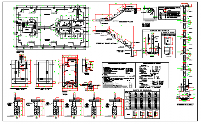 Foundation detail of Multi family housing design drawing
