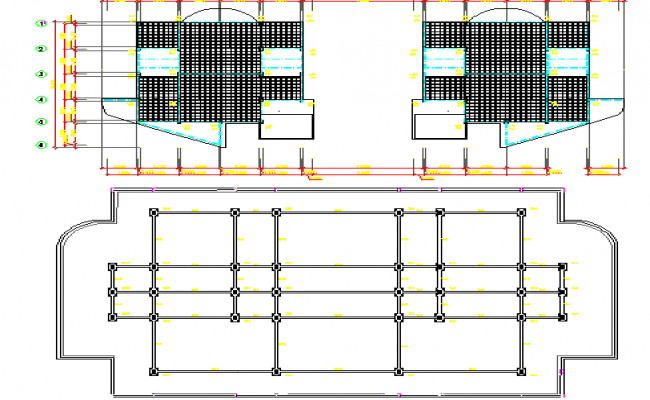Foundation details columns footings joints dwg file