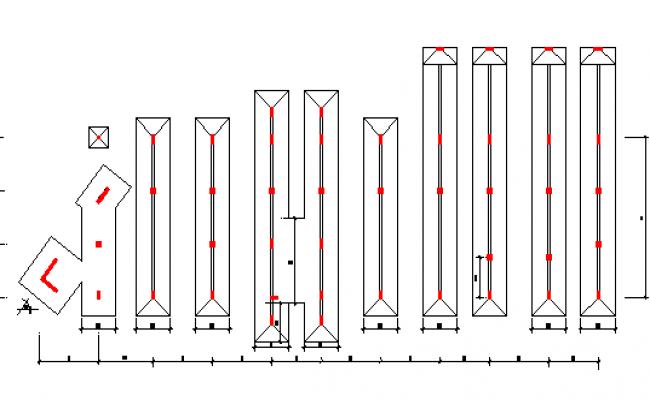 Foundation details with column construction of office dwg file