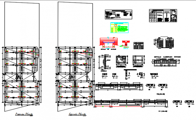 Foundation plan and Building Construction detail dwg file