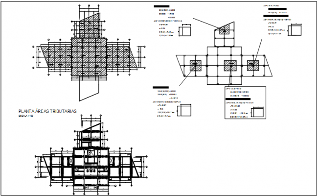 Foundation plan and roof plan detail dwg file