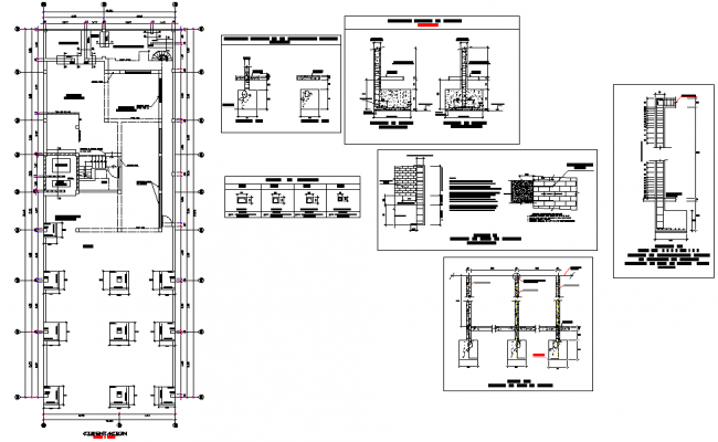 Foundation plan and section detail