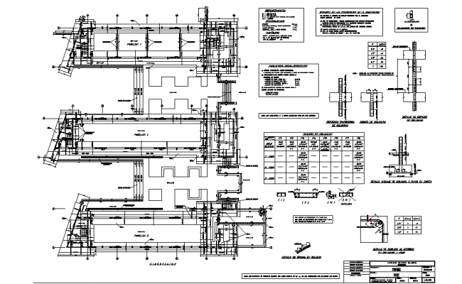 Foundation plan commercial working plan detail dwg file