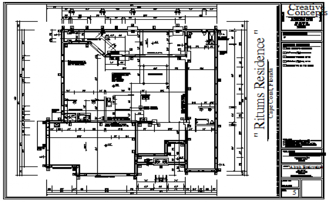 Foundation plan design drawing of multi family housing design drawing