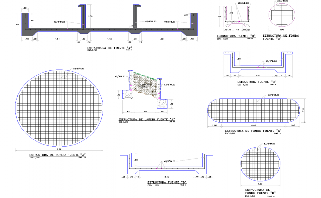 Foundation plan detail view dwg file