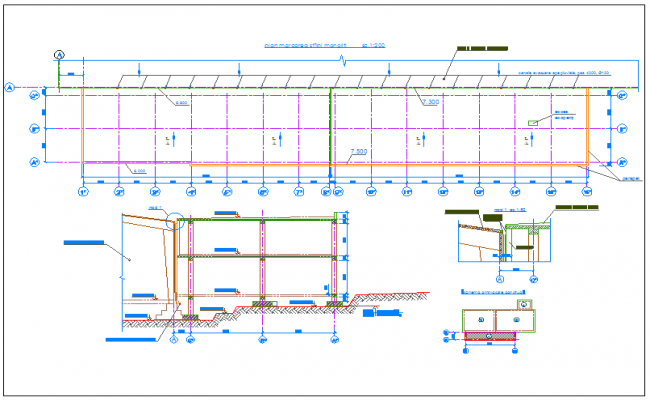 Foundation plan layout detail dwg file