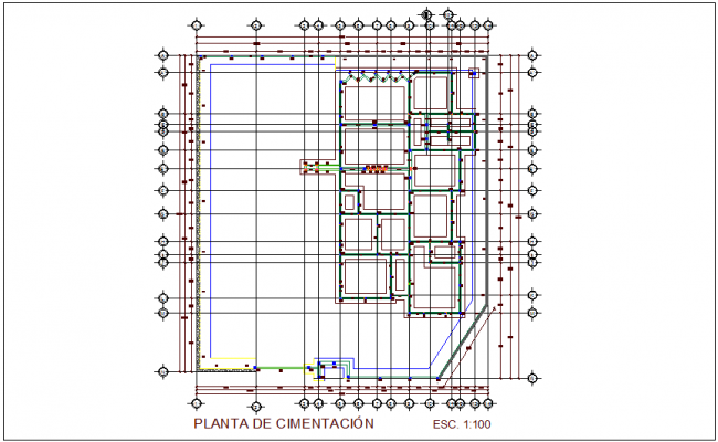Foundation plan of clinic dwg file