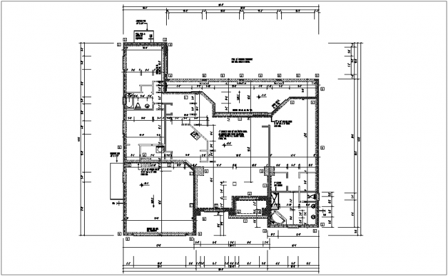 plan of residential area dwg file