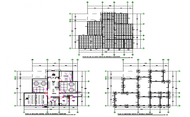 Foundation plan to roof plan detail dwg file