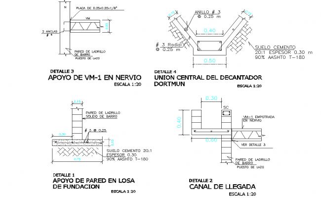 Foundation section plan autocad file