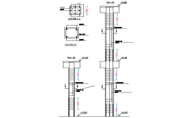 Foundation section plan structural file