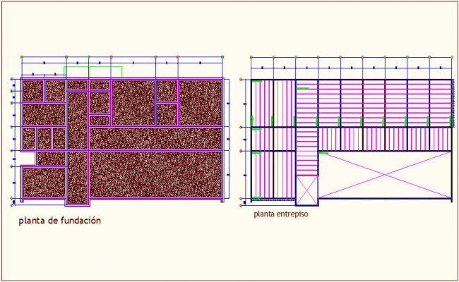 Foundation structure cover construction view dwg file