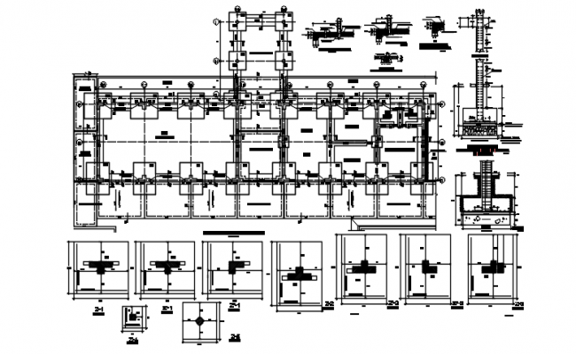 Foundation working plan detail dwg file