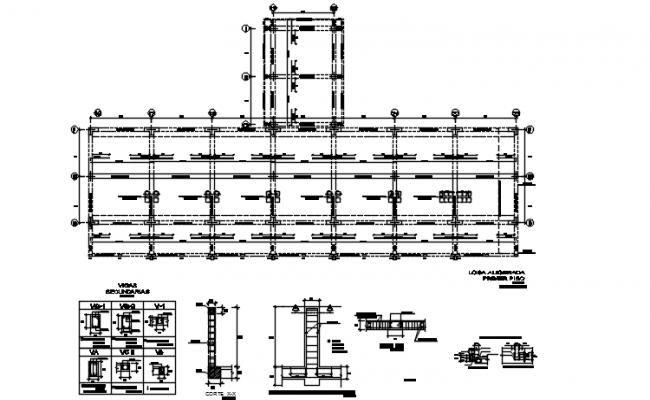 Foundation working plan detail dwg file