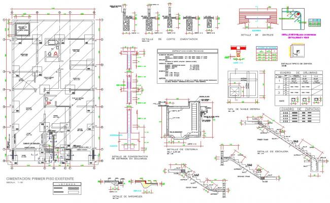 Foundations detail dwg files