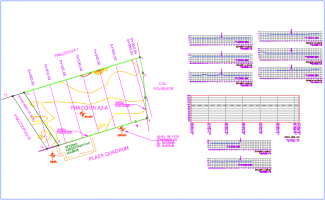 Fraction plan of hotel with architectural view dwg file