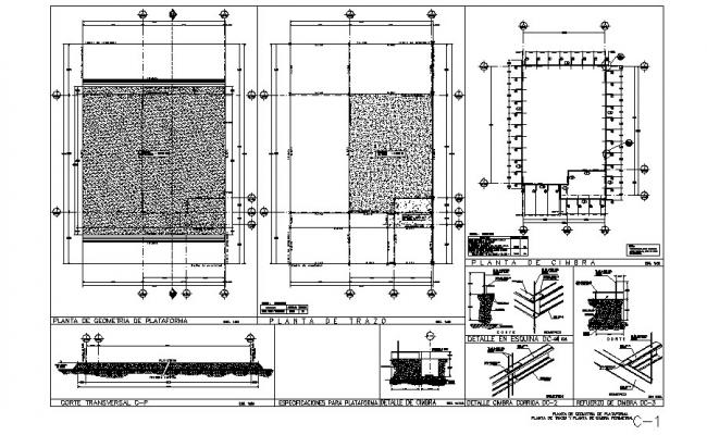 Framing plan and cover plan and structure details of house dwg file