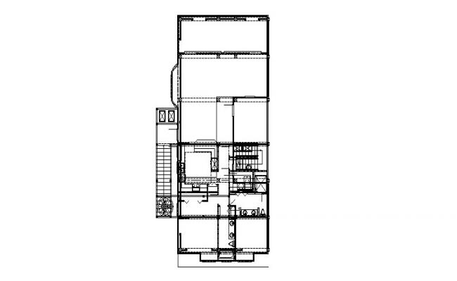 Framing plan and sanitary installation details of house floor dwg file