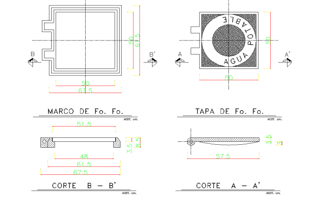 Framing plan and section autocad file