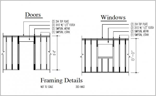 Framing plan view details dwg file