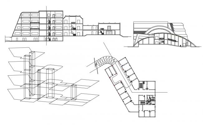 Free College Building AutoCAD Drawing