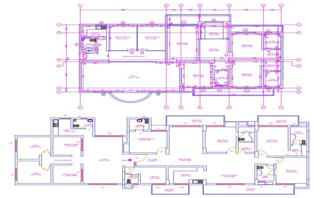 Free Commercial House CAD Plans Drawings