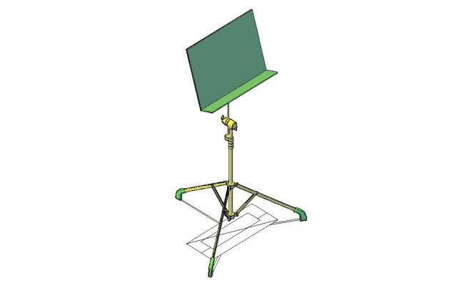 Free Download  piano note stand dwg file