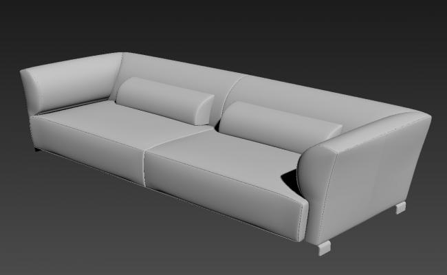 Free Download 2 Seater Sofa Living Room 3D MAX File