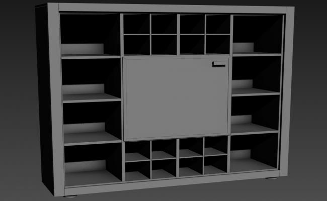 Free Download 3d Furniture Wooden Cupboard design Max File