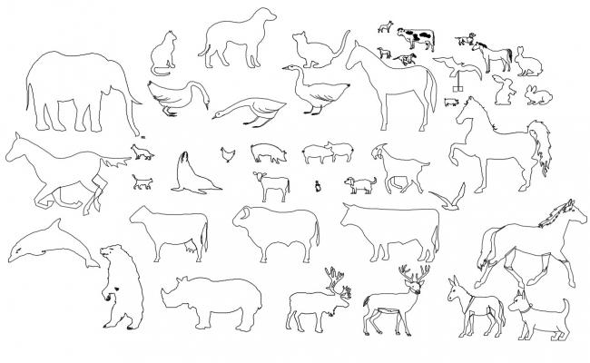Free Download Animal CAD Blocks