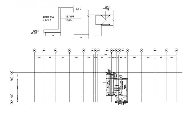 Free Download Beam Structural Drawings DWG File Free