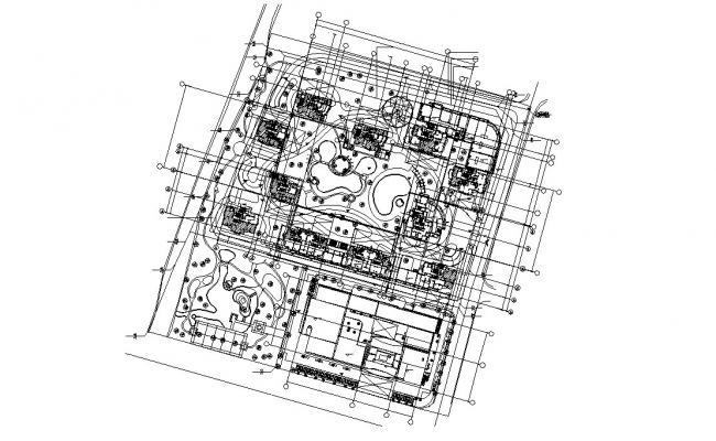 Free Download Building Master Plan AutoCAD File