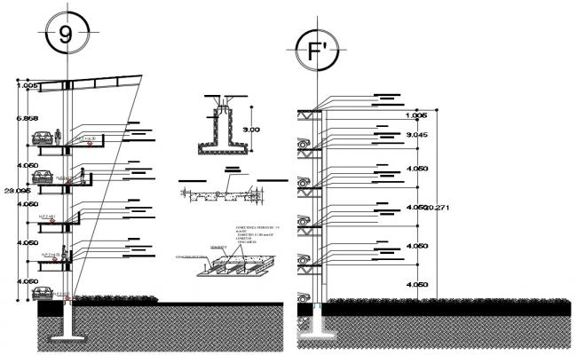 Free Download Car Parking CAD Drawing